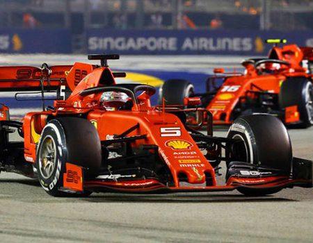 Sebastian Vettel wins F1 Singapore Grand Prix