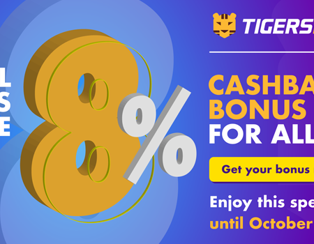 Celebrate Fall, with the special 8% Cashback Bonus on Tigers Bet!