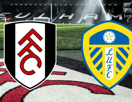 Fulham competes Leeds in a premier league game