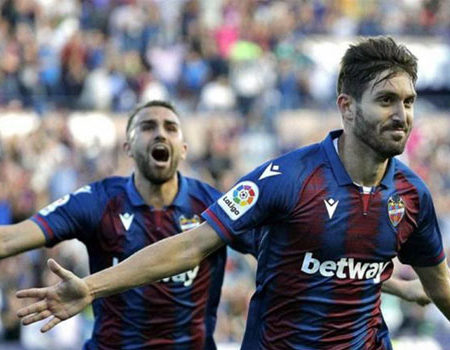 Levante faces Huesca in today's match.